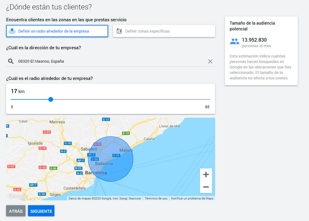 Google Ads campanya Smart Audiencia