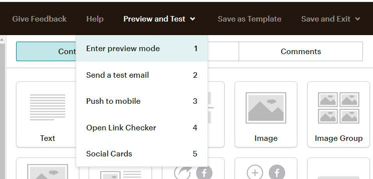 Previsualulitzar Campanya email marqueting Mailchimp