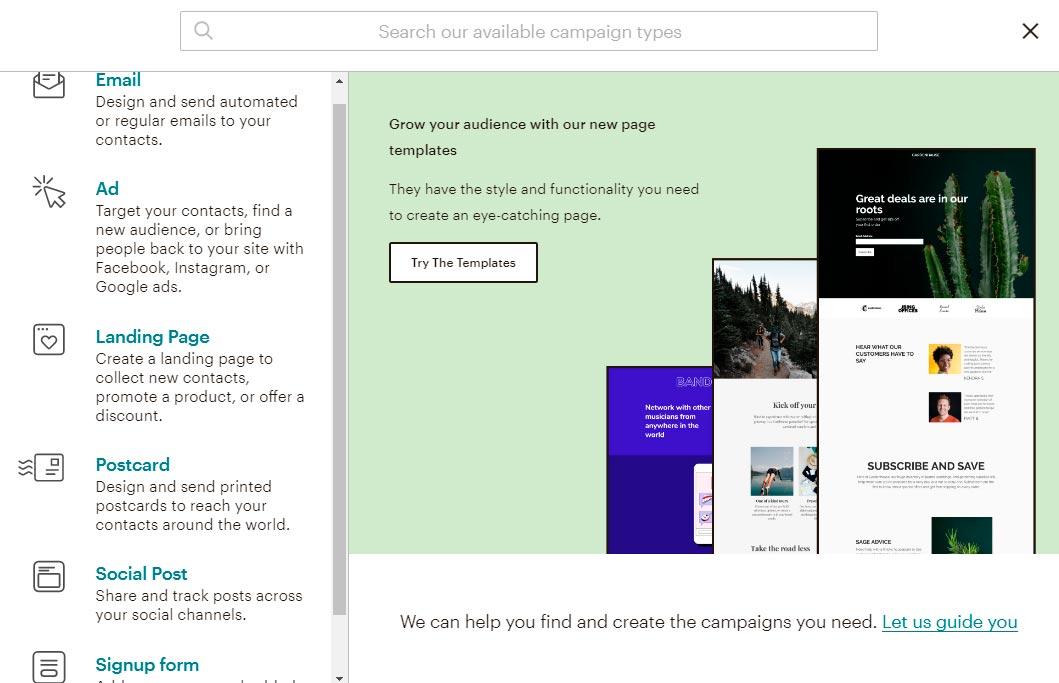 Tipus de campanyes Mailchimp Email màrqueting