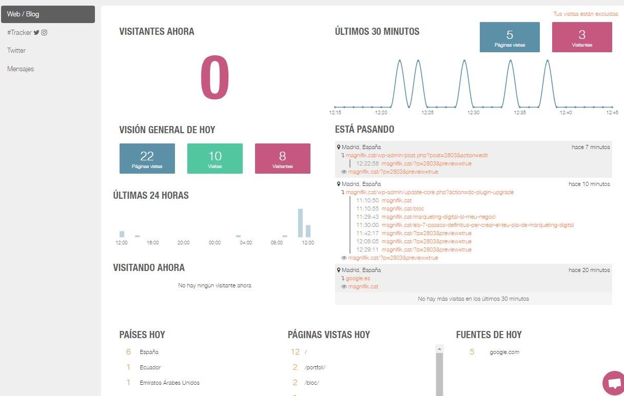 Tutorial Metricool tiempo real web